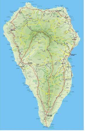 Markierte Wanderwege Auf La Palma Die Karte Ist Leider Nicht Mehr