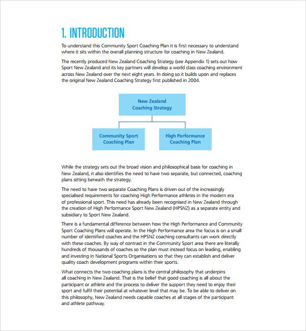 Coaching Plan Template. For Team Managers, Parents, And Coaches