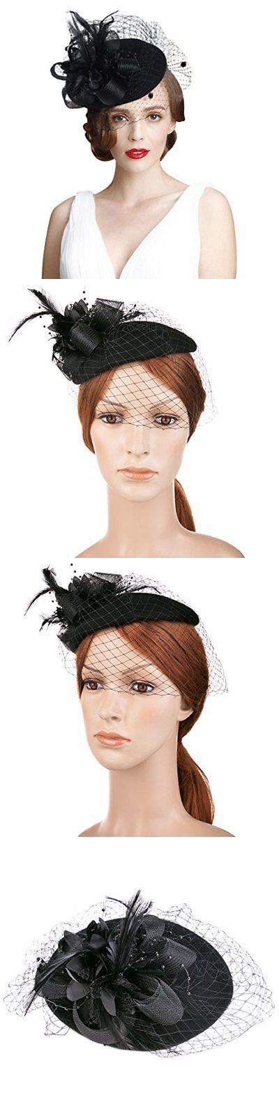 6057364d253 Fascinators and Headpieces 168998  Vbiger Women S Fascinator Woolen Felt  Pillbox Hat Cocktail Party Wedding Bow 3 -  BUY IT NOW ONLY   24.13 on   eBay ...