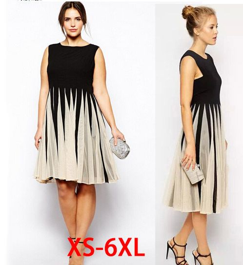 Aliexpress.com : Buy plus size 4xl 5xl 6xl women dresses fashion ...