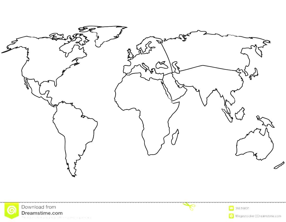 Outline Map Of Europe Continent With World Map Outline