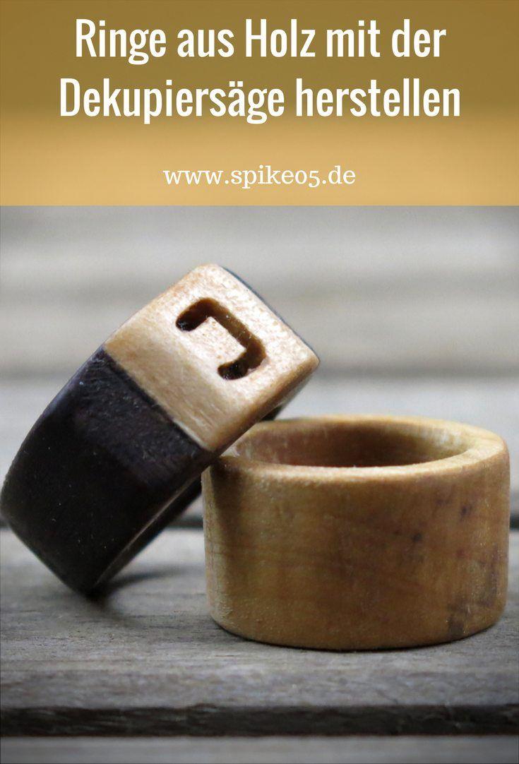 ringe aus holz mit der dekupiers ge herstellen holz pinterest dekupiers ge ringe und holz. Black Bedroom Furniture Sets. Home Design Ideas