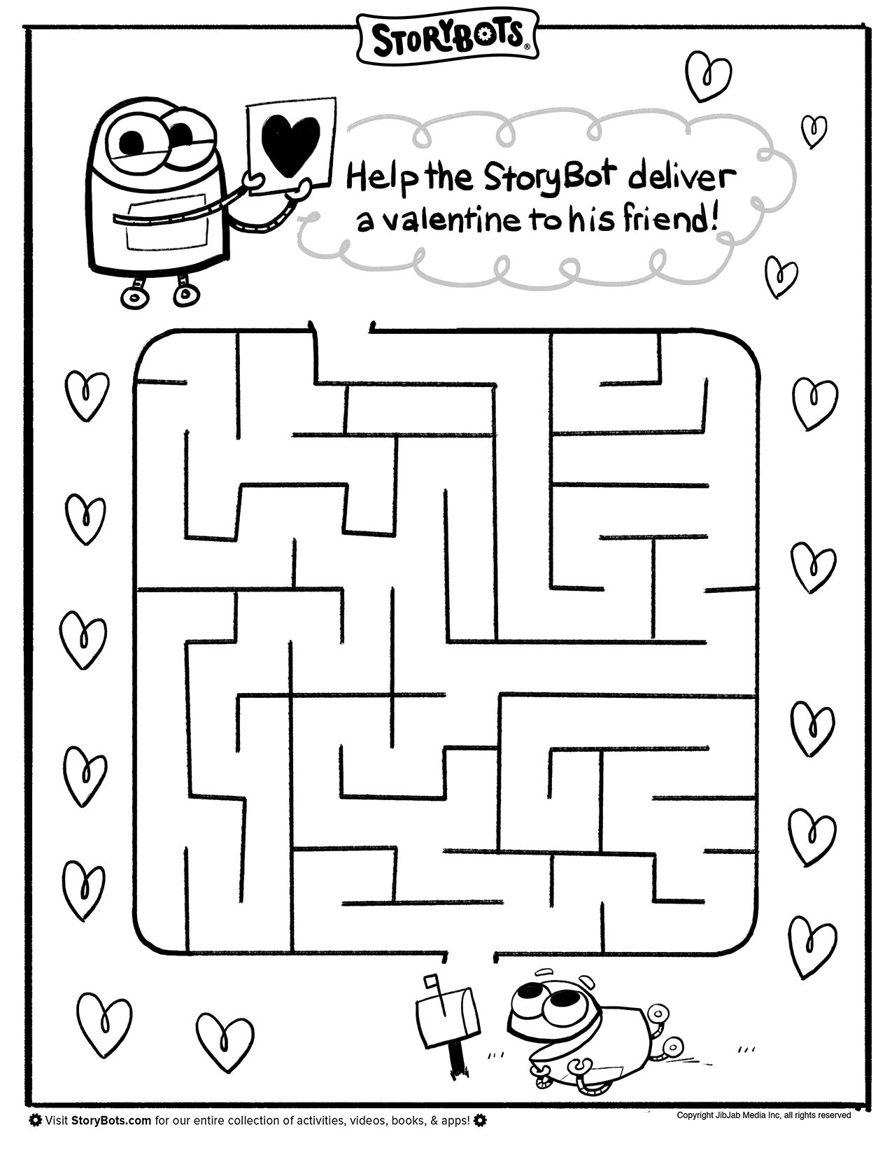 Valentineu0027s Day Maze   Help The StoryBot Deliver A Valentine To A Friend!