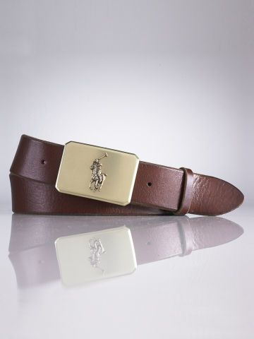 Polo Ralph Lauren Plaque-Buckle Leather Belt Mode Équestre, Style Équestre,  Ceintures Pour 0dbc5b5686c