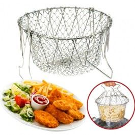 12 in 1 Multi-Function Fried Net Kitchen Tool - This kitchen tool provides endless functions to kitchen makers and makes their work easier. It can be used for cooking, boiling, deep frying, steaming, poaching, blanching and par boiling in kitchen and can also be employed as colander for tasks like washing, draining, straining and storage.