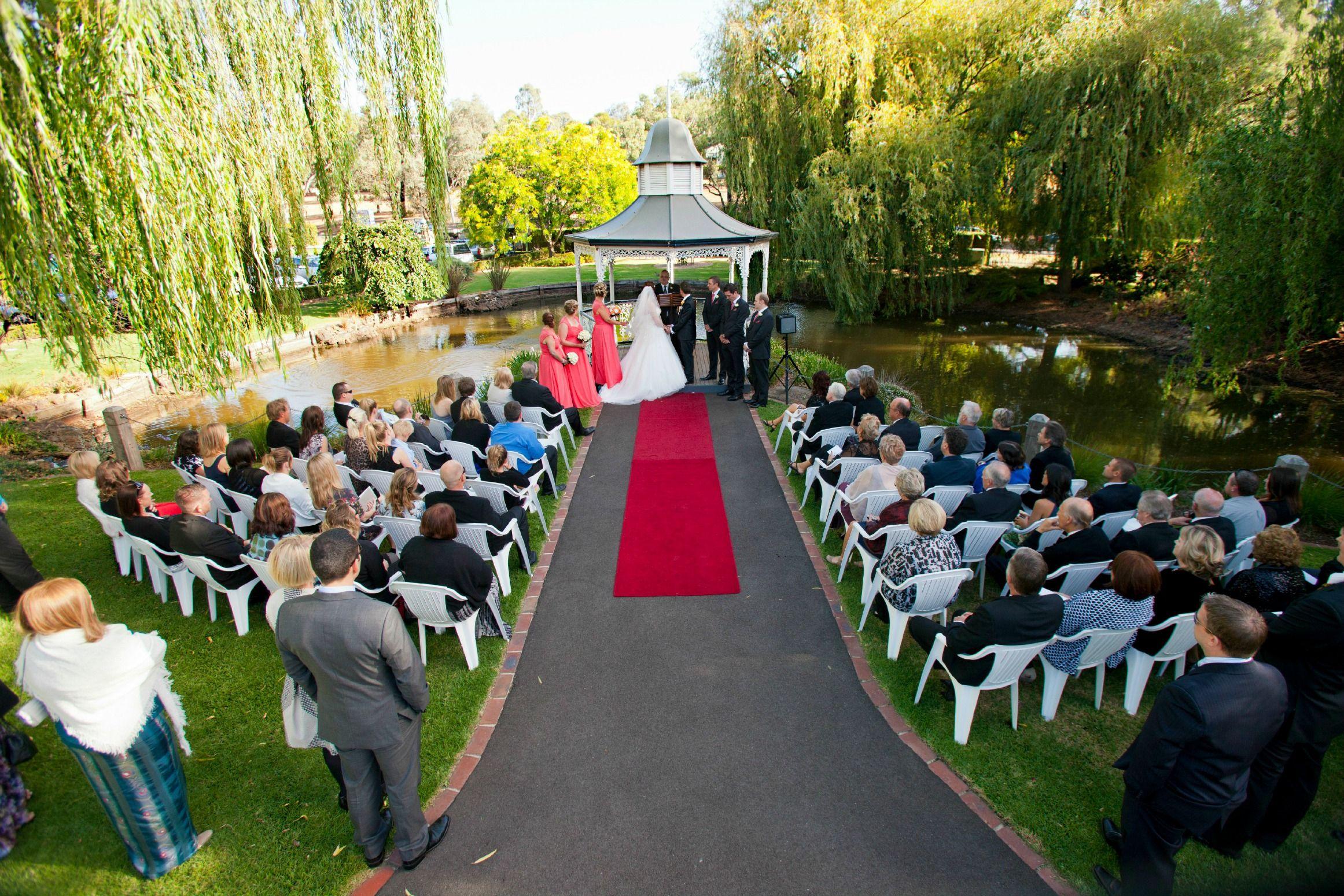 Our Gazebo weddings overlook the lake