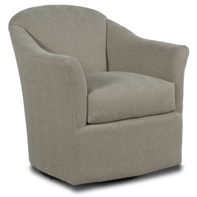 Fairfield Chair Barry Swivel Barrel Chair Body Fabric 9953 Willow