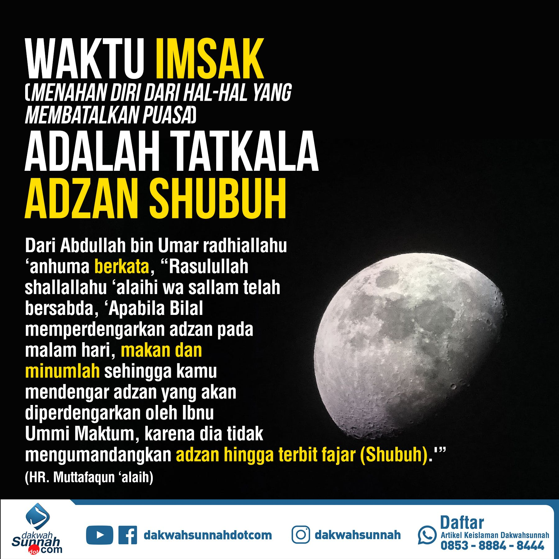 Https Muslimah Or Id 2196 Waktu Imsak Beberapa Menit Sebelum