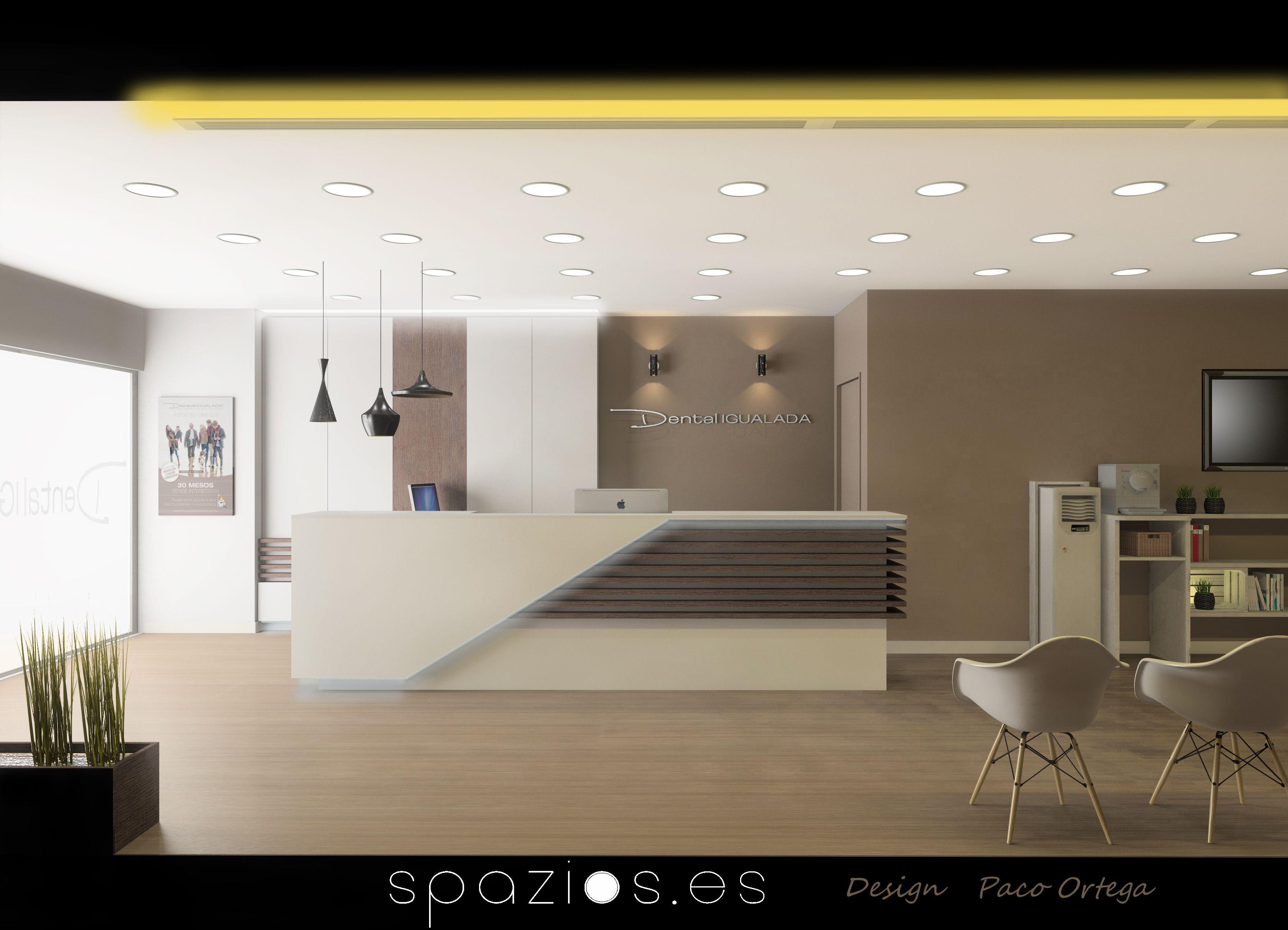 Reception Desk Idea Interior Design (Dental Clinic) By Paco Ortega