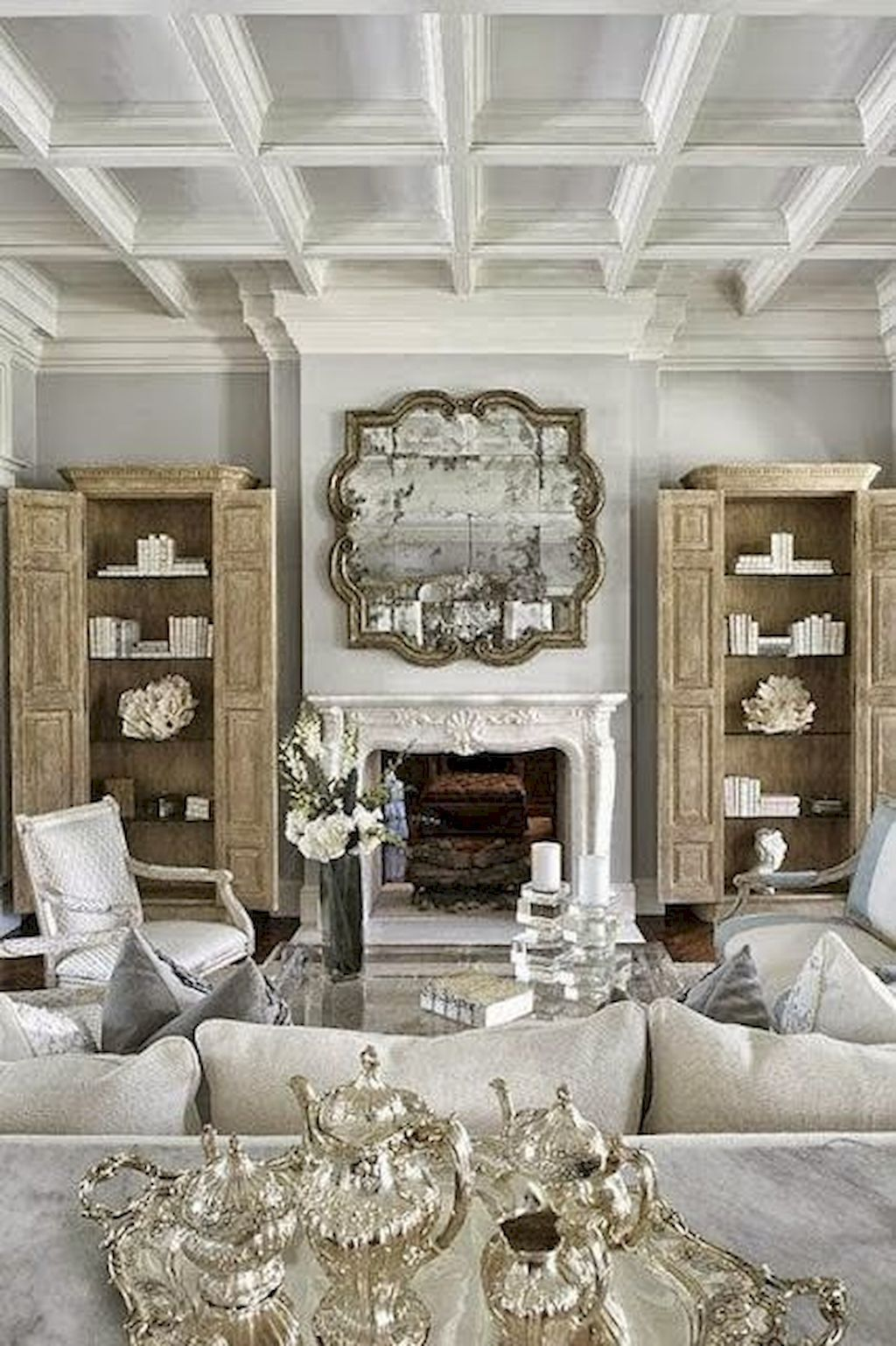 Fancy French Country Living Room Decorating Ideas 7 French