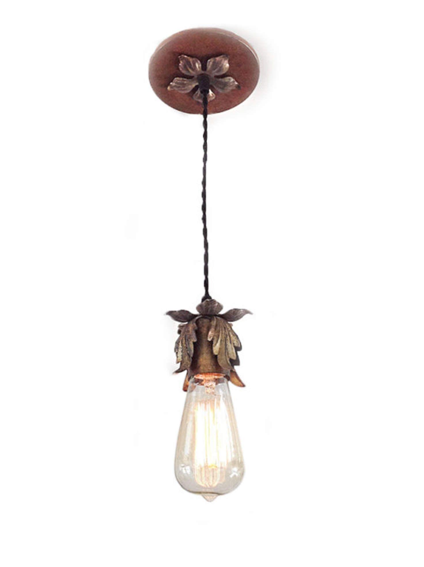 Hanging Pendant Light With Edison Bulb Shabby Chic Lighting Rustic Fixture Bathroom Kitchen