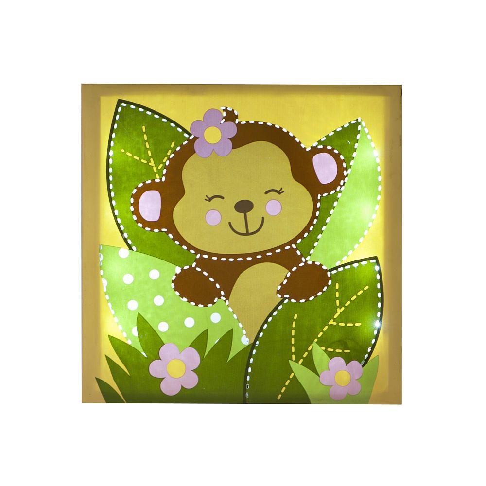 Babies R Us By Design Girl Monkey Light Up Wall Art - Babies R Us ...