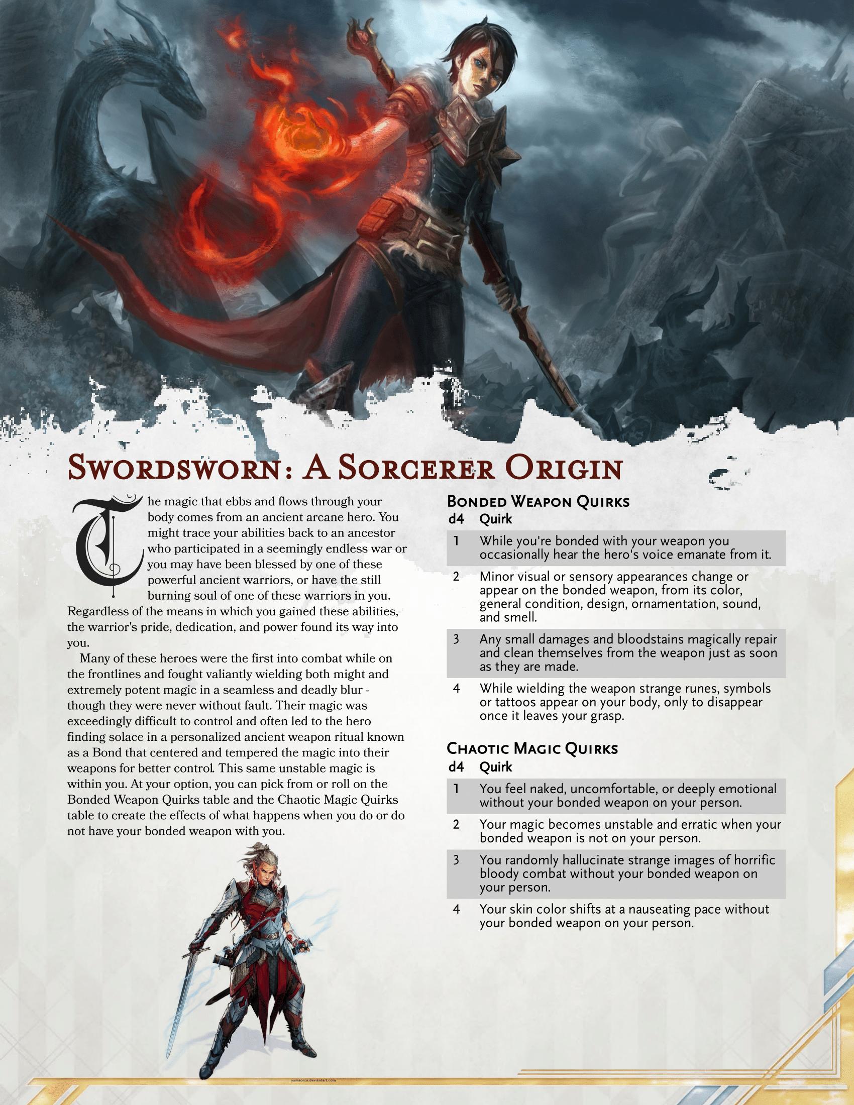 A Battlemage, Swordmage, Spellblade, Swordsworn, Sorcerer