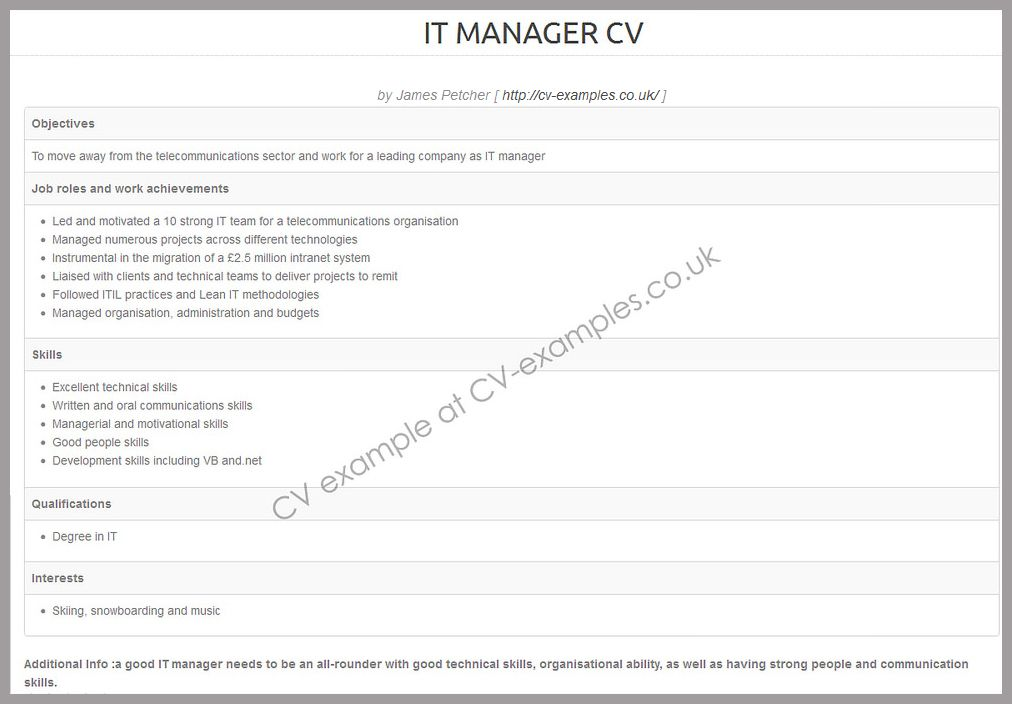 CV example of a client service executive CV examples Pinterest - Cv Example
