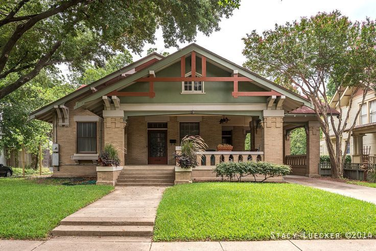 Historic fairmount district fort worth texas for Arts and crafts style home plans