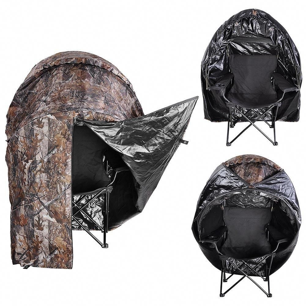 This Is A Brand New Professional Single Shooter Ground Hunting Blind Tent With A Built In Comfortable Chair Wit Hunting Blinds Hunting Chair Deer Hunting Tips