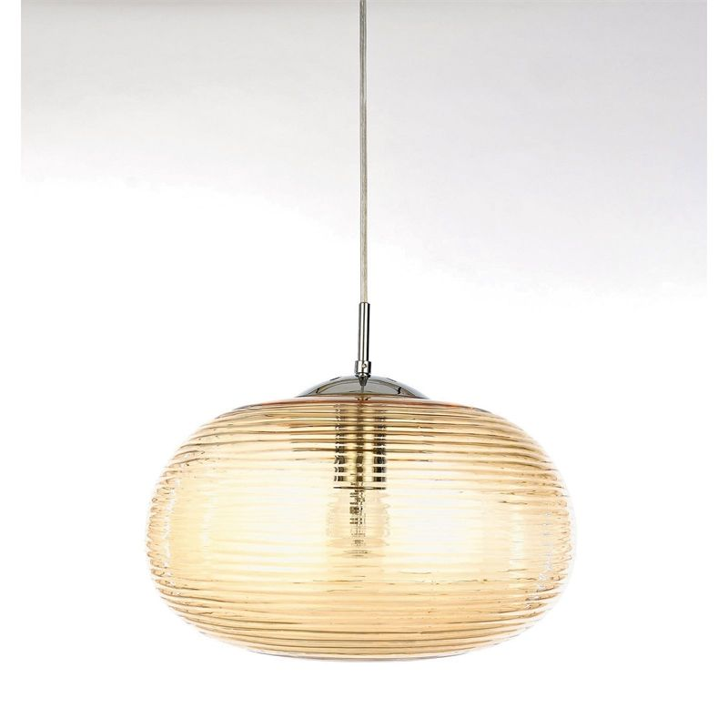 Find lavinia champagne ribbed glass pendant light at homebase visit your local store for the