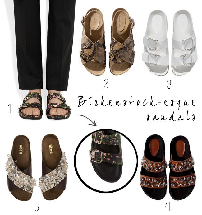 Birkenstock-esque Sandals {& Pretty Things}