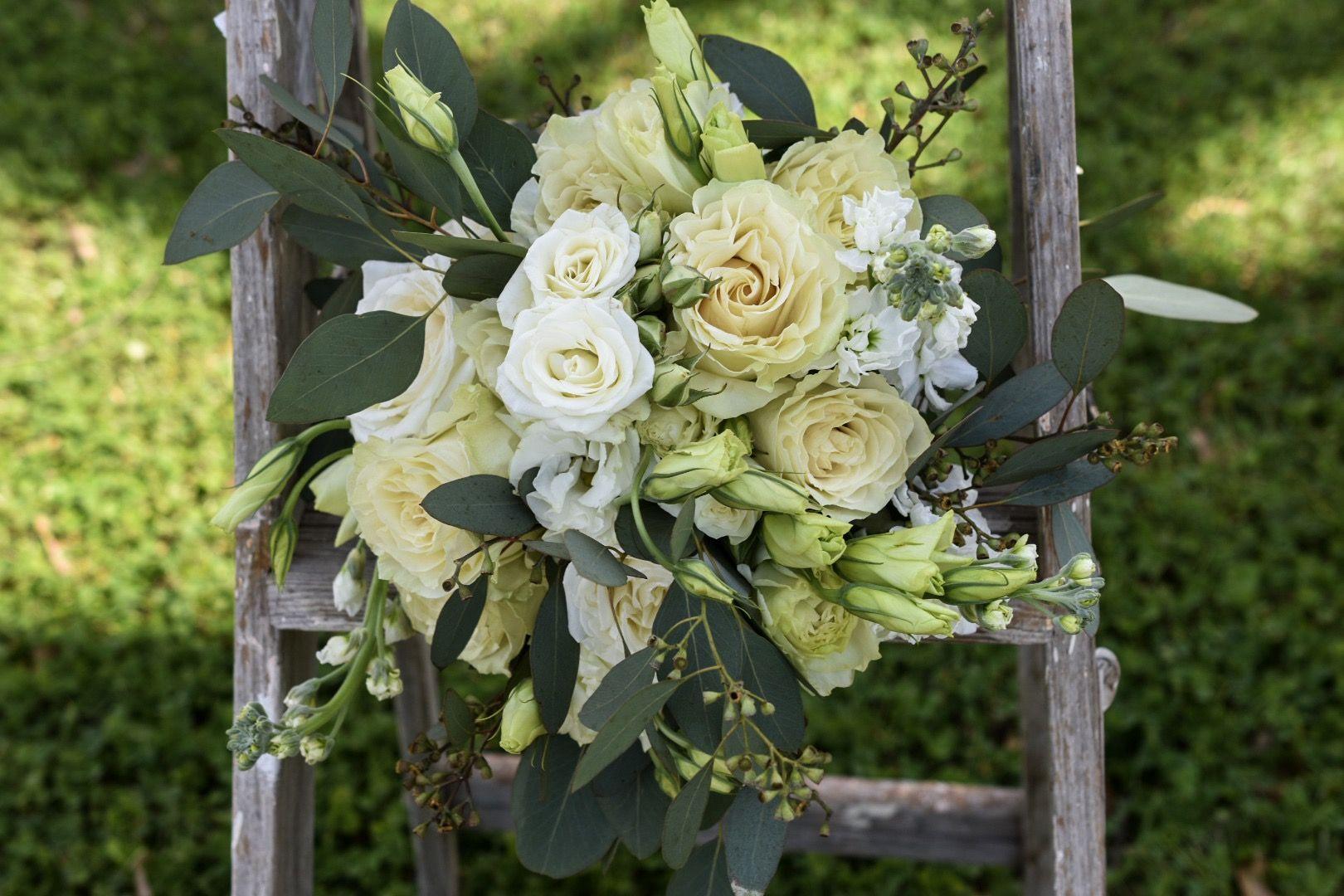 Rich cream and white bridal bouquet. Wedding bouquets