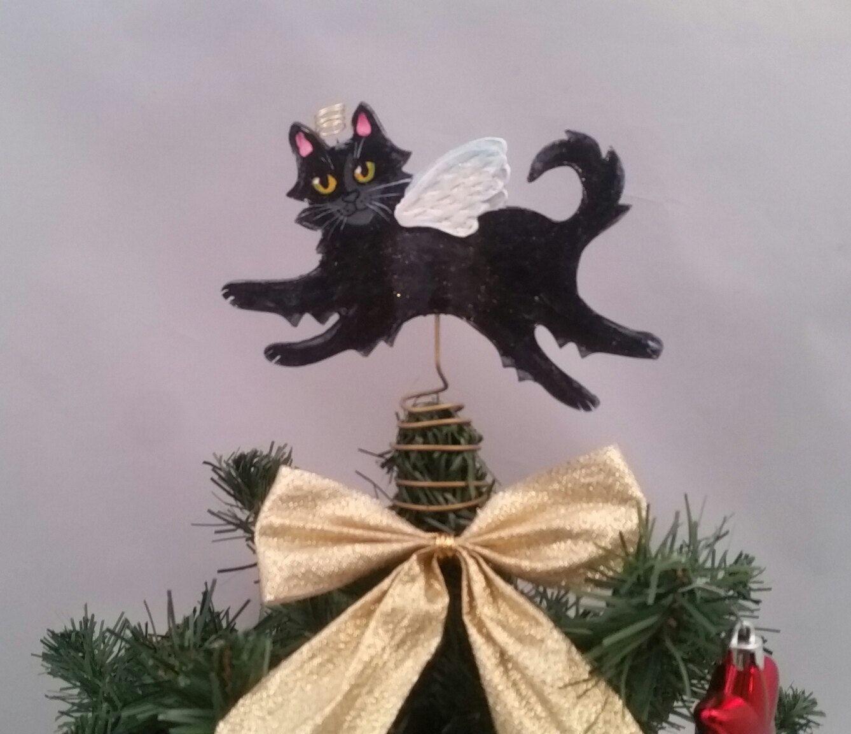 Groovy Black Cat Topper Black Cat Tree Topper Black Cat Angel Download Free Architecture Designs Scobabritishbridgeorg
