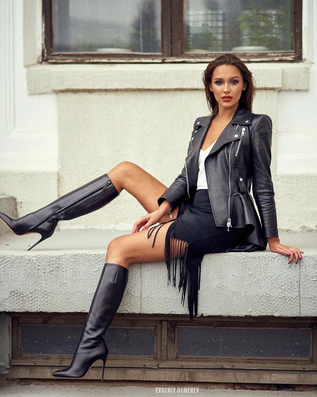 John on Instagram: @mila_sh_11 • • #leather #leatherboots