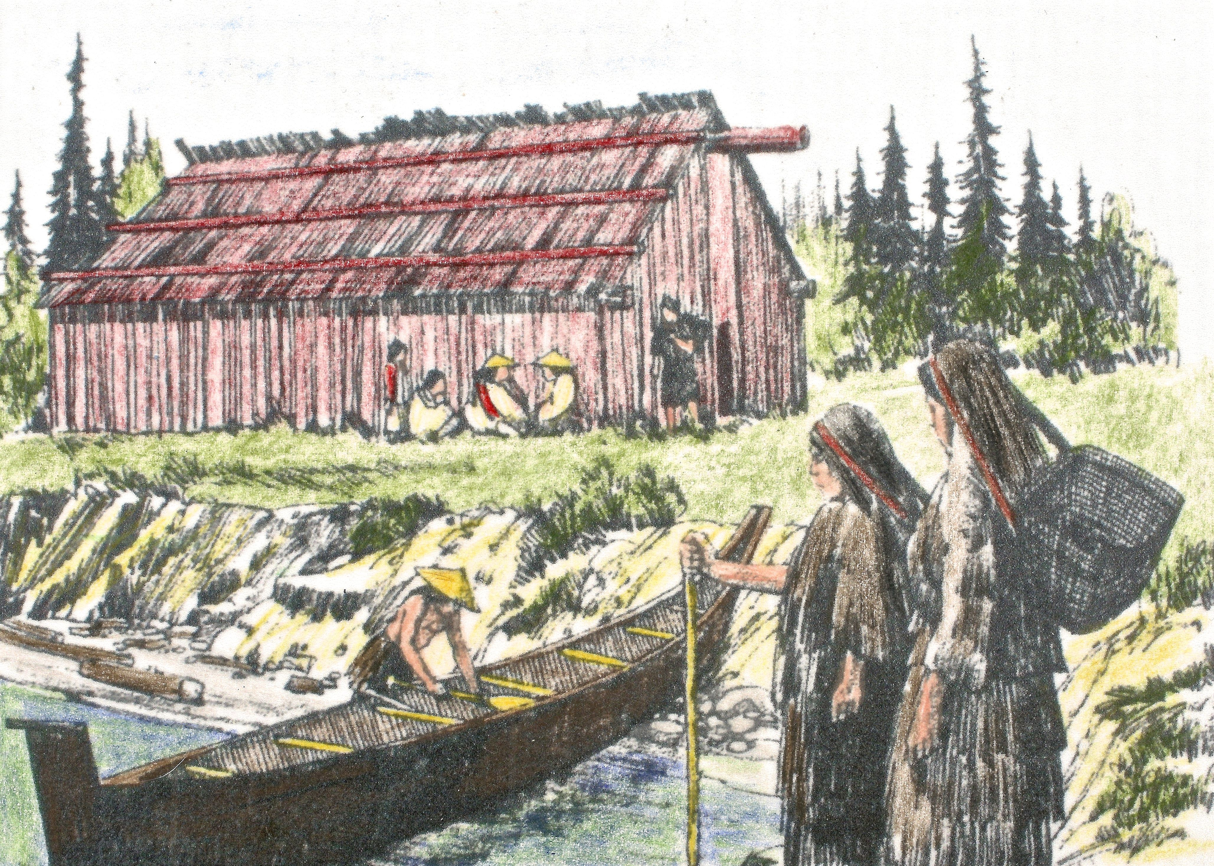 Drawing of longhouse drawings painting history