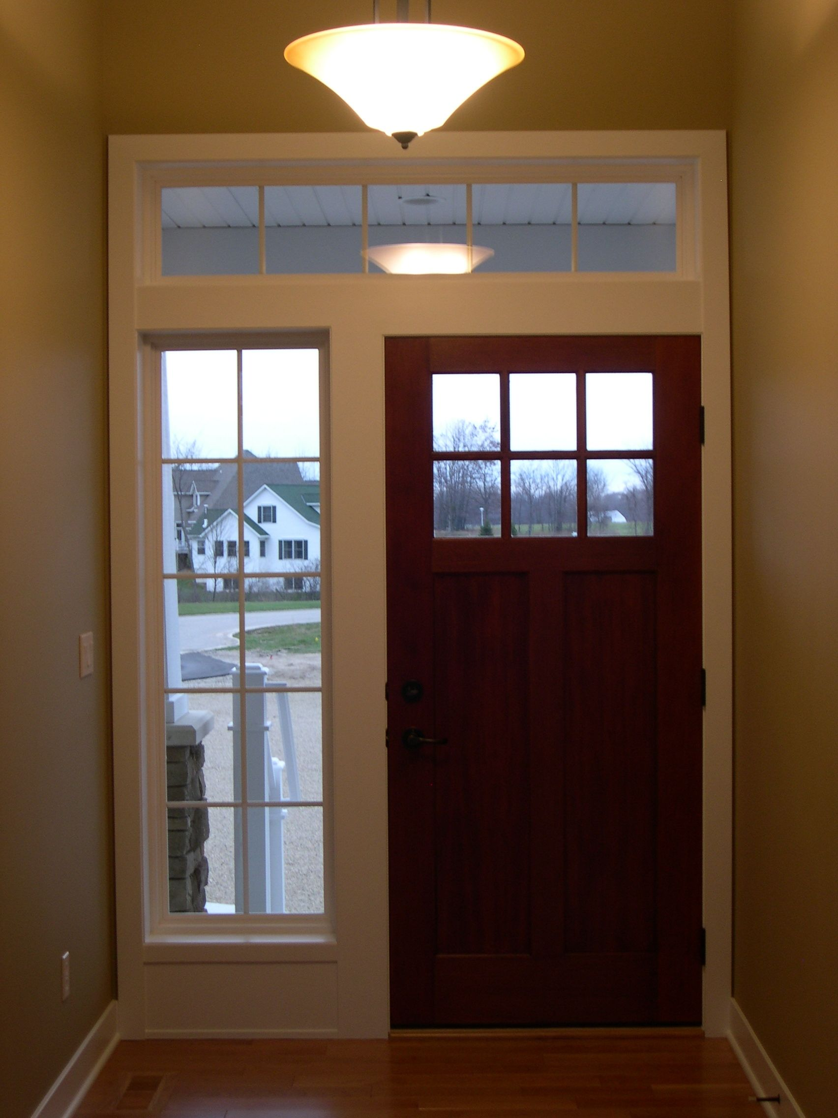 Front Entry Painted Trim Amp Side Light Surround Stained
