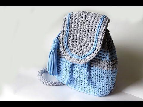 Mochilas de Trapillo / Tutoriales | Crochet y Dos agujas - Patrones ...