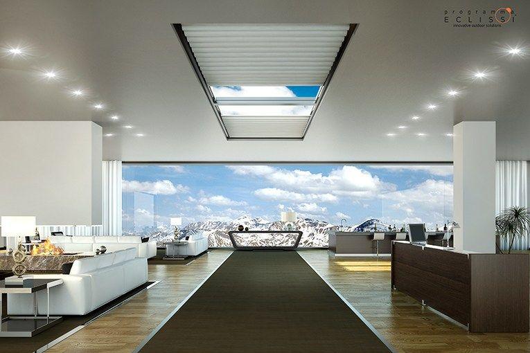 Cortina para ventanas de techo el ctrica de tela skylight by tenda service cortina para - Cortinas para tragaluz ...