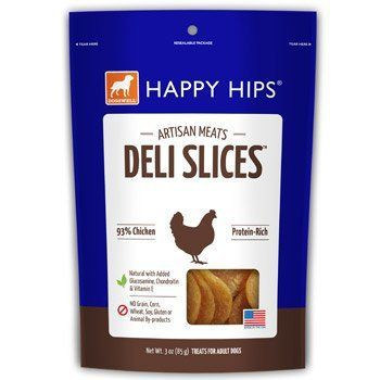 Dogswell Natural Happy Hips Deli Slices Chicken Protein Rich Pet Dog Treats 3z
