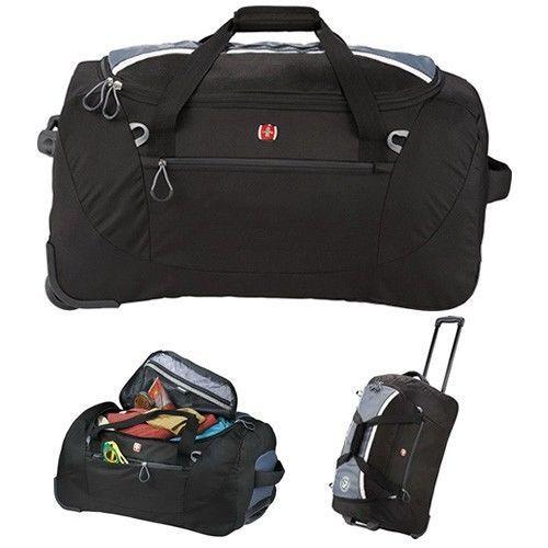 Brand New Wenger Shield 24 Inch Rolling Travel Black Duffel Bag Swissgear  Duffel  Wenger  DuffleGymBag 7ea8ede74cc97
