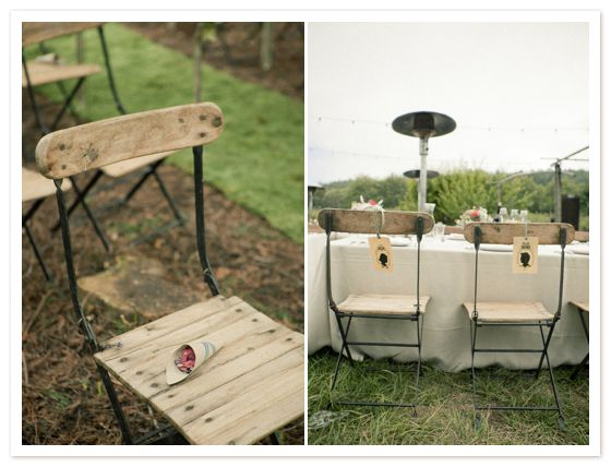 Chairs for a woodland wedding
