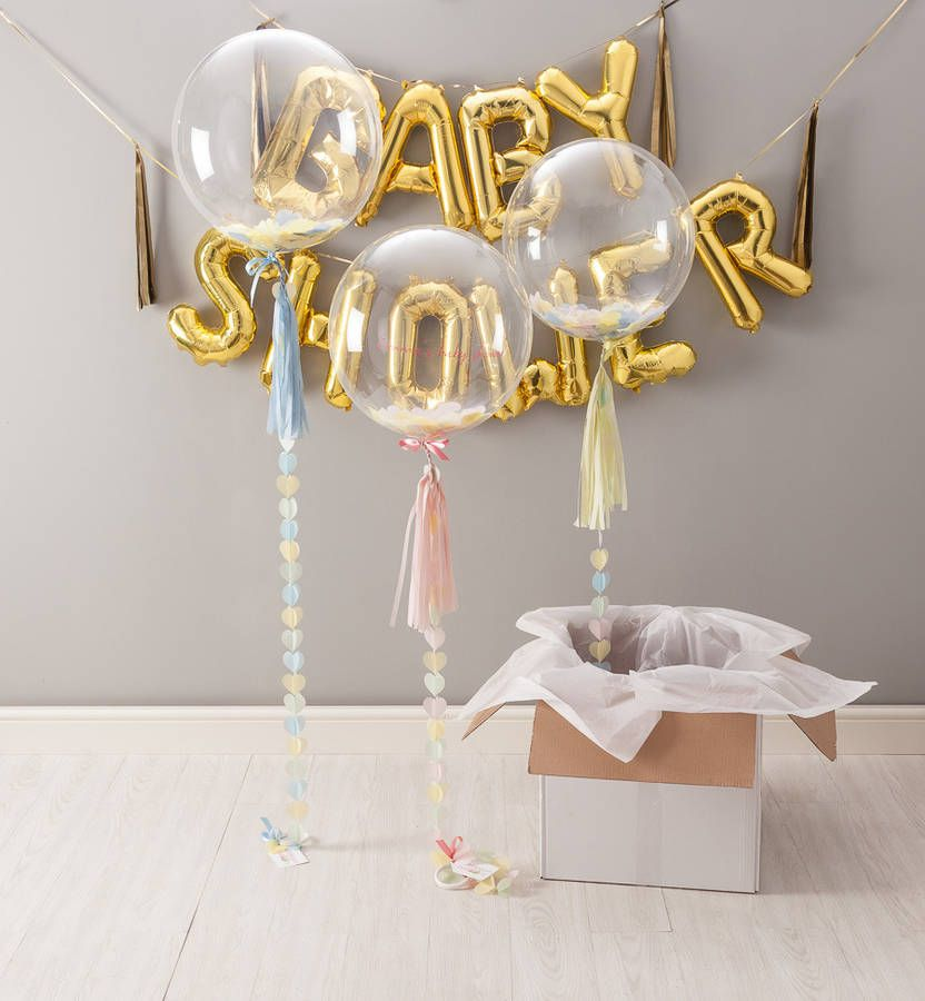 Personalised Rose Gold Baby Shower Bubble Balloon
