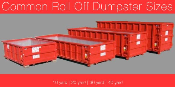 Common Roll Off Dumpster Sizes Clean Up Pinterest