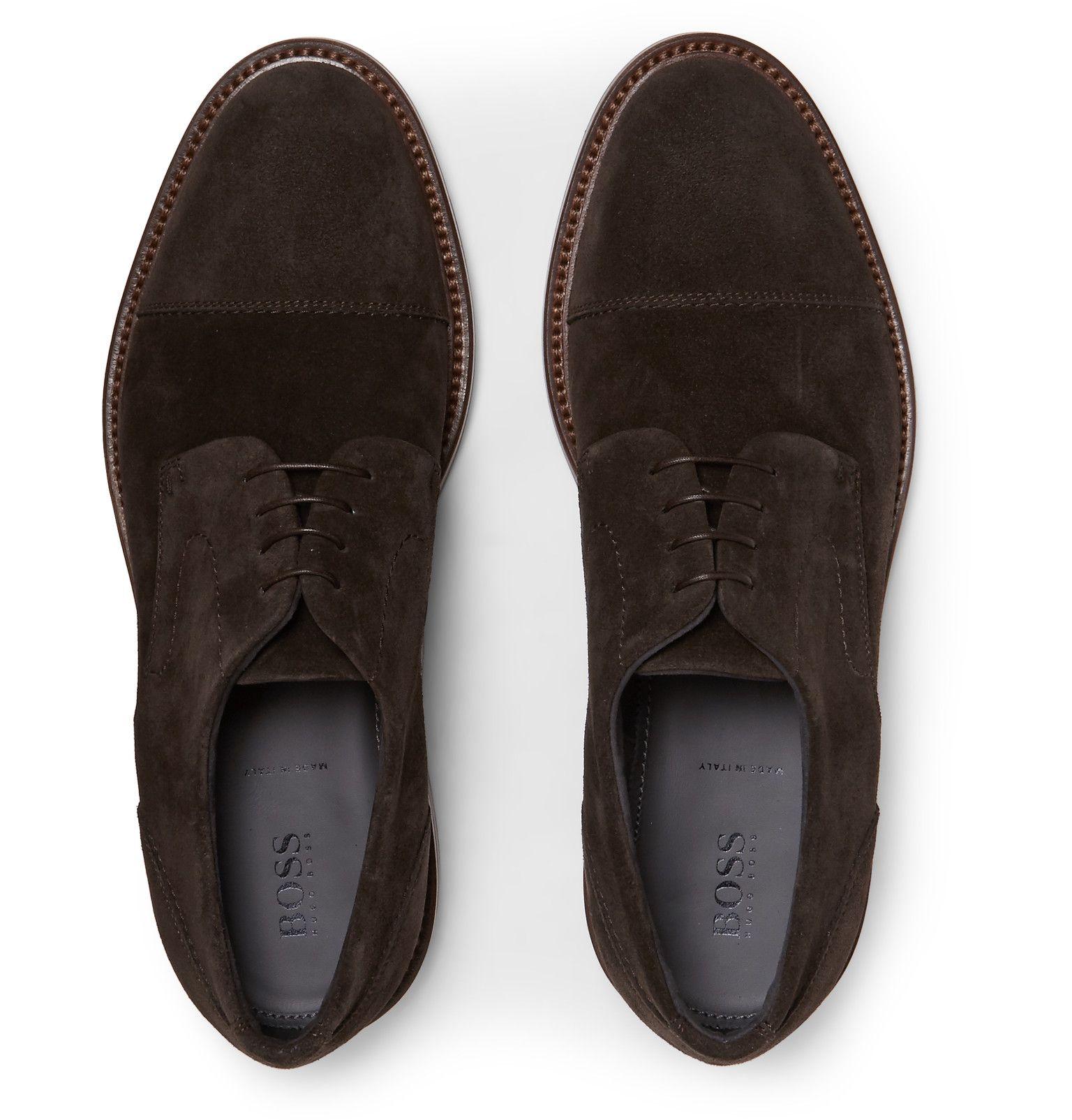 HUGO BOSS Suede Derby Shoes | Derby