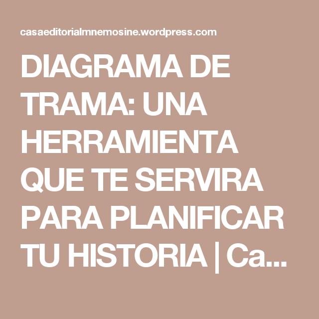 DIAGRAMA DE TRAMA: UNA HERRAMIENTA QUE TE SERVIRA PARA PLANIFICAR TU ...