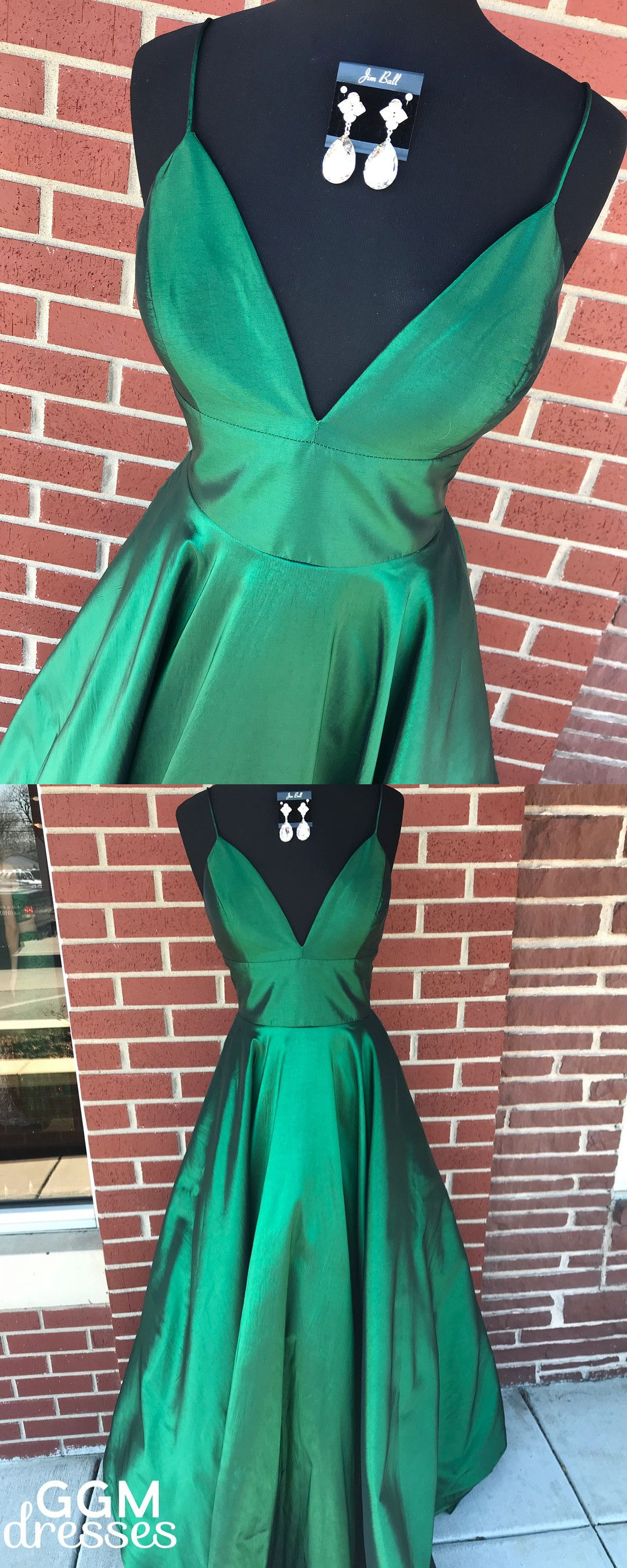 Straps green long prom dress prom dress party dress dancing
