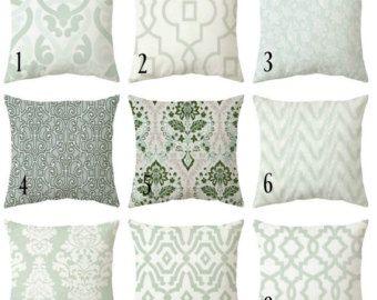 Sale 15 Off Zipper Pillow Cover Sage Pillows Light