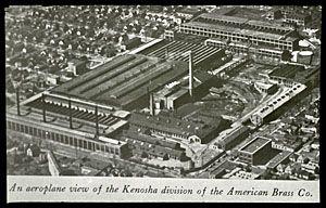 American Brass Company - Kenosha, WI. This aerial view of ...