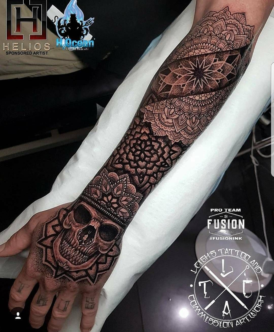5 149 Likes 12 Comments Fusion Ink Fusion Ink On Instagram Beautiful Work By Leigh Tattoos Using Fusion Forearm Tattoos Mandala Hand Tattoos Tattoos