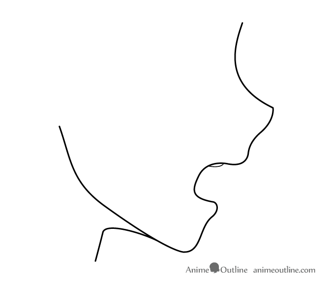 Wide Open Anime Mouth Side View Anime Side View Anime Mouths Open Mouth Drawing