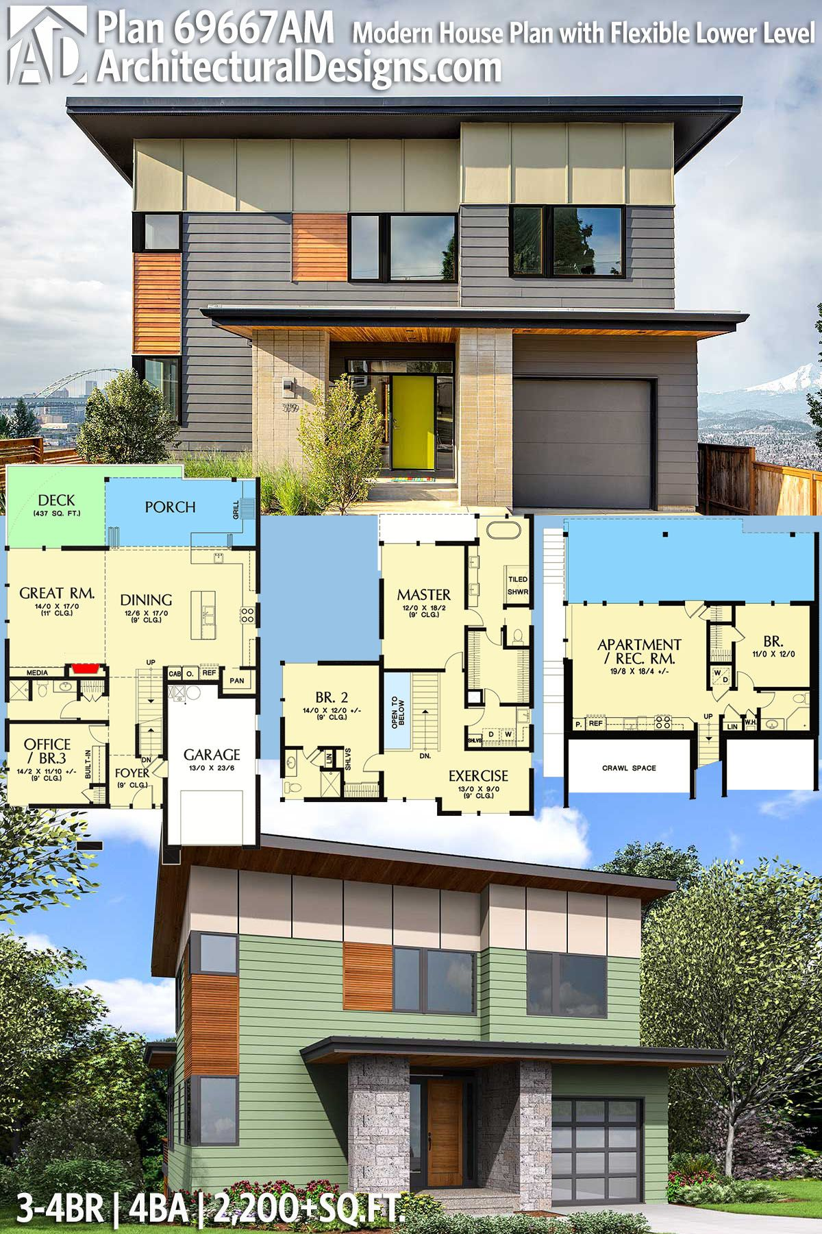 Architectural Designs House Plan 69667AM gives you