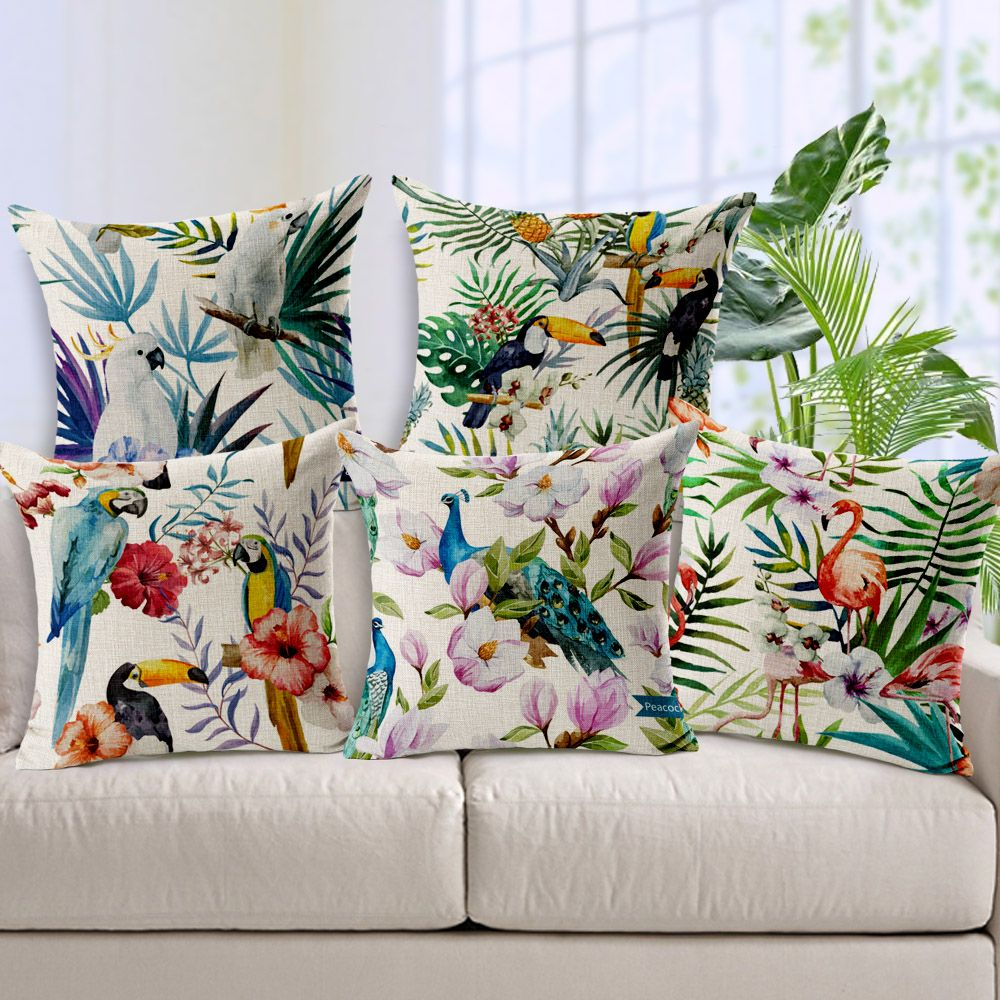Vintage Decorative Throw Pillows Living Room Couch Seat Floor Fl Chair Cushions Outdoor Pillow For Sofa Yesterday S Price Us 12 99