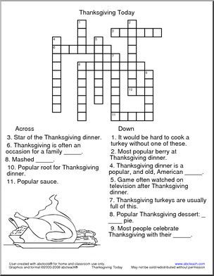 Crossword: Thanksgiving Today - 3 ACROSS: Star of the ...