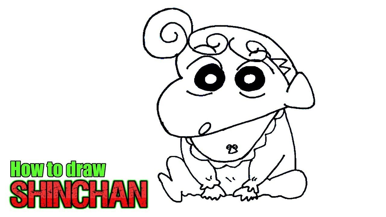 How To Draw Shinchan Step By Step Characters Crayon Shin Chan Shinch Drawing Cartoon Characters Drawings Of Friends Cartoon Drawings