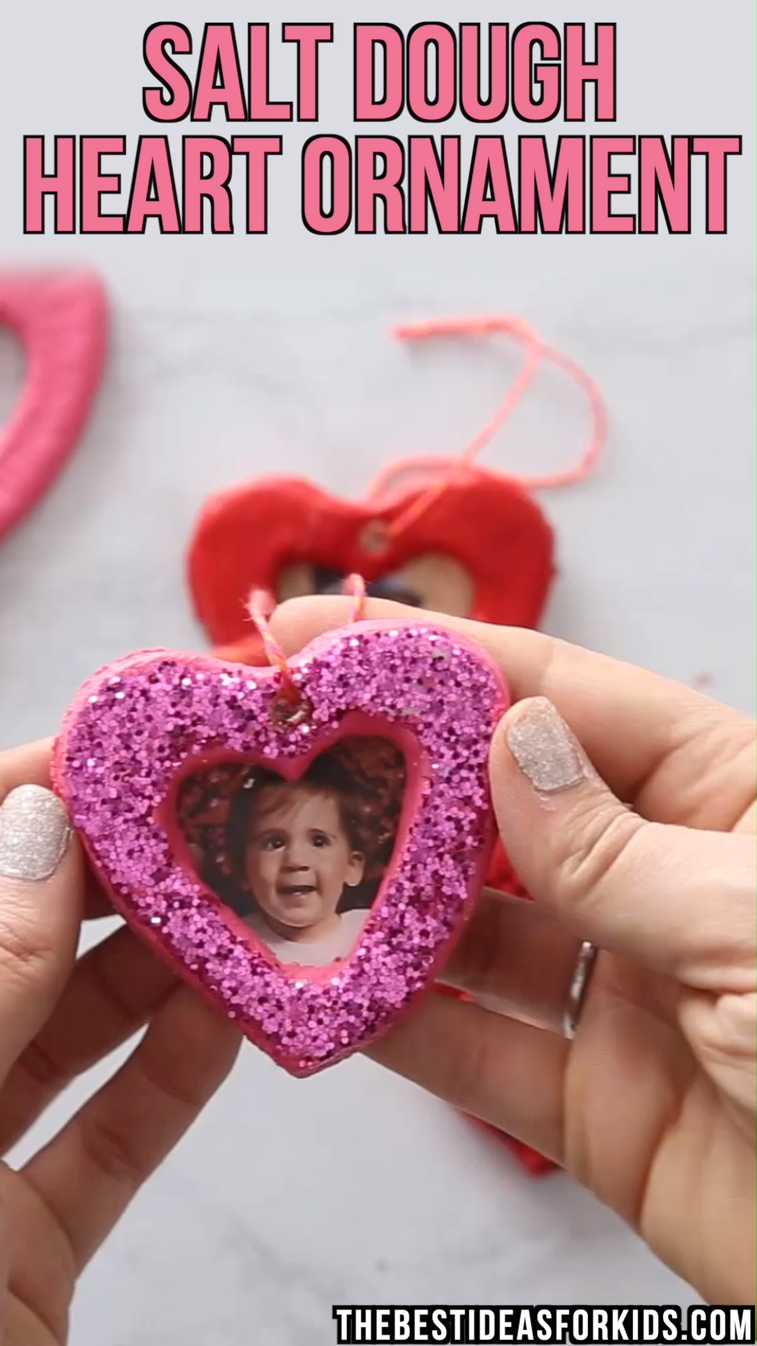 SALT DOUGH HEARTS ❤️ - these salt dough hearts would be a really fun craft to make with kids for Valentine's Day or Mother's Day!  #bestideasforkids