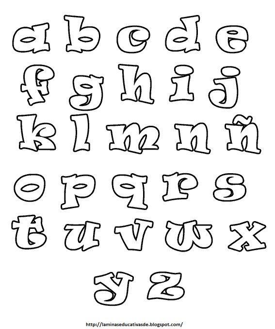 Abecedario En Distintas Letras