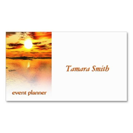 Sunsetu0027 Event Planner Business Card Template By Peter Chassé This - event card template