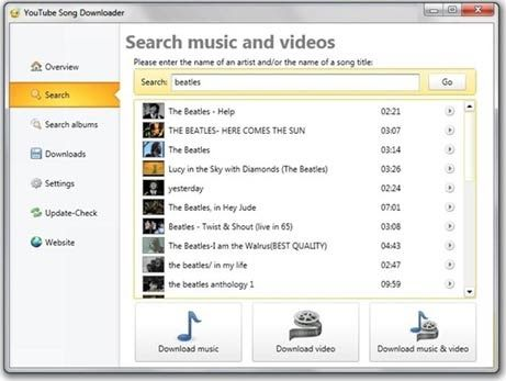 best free program to download music from youtube