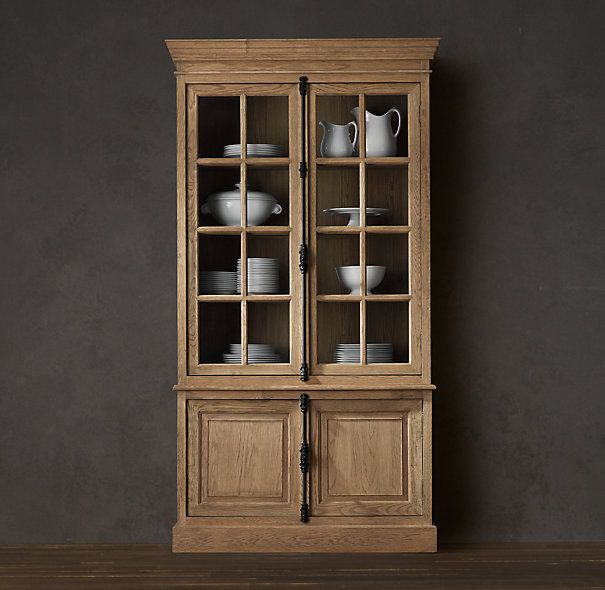 Living Room Furniture FRENCH CASEMENT SIDEBOARD HUTCH Restoration Hardware